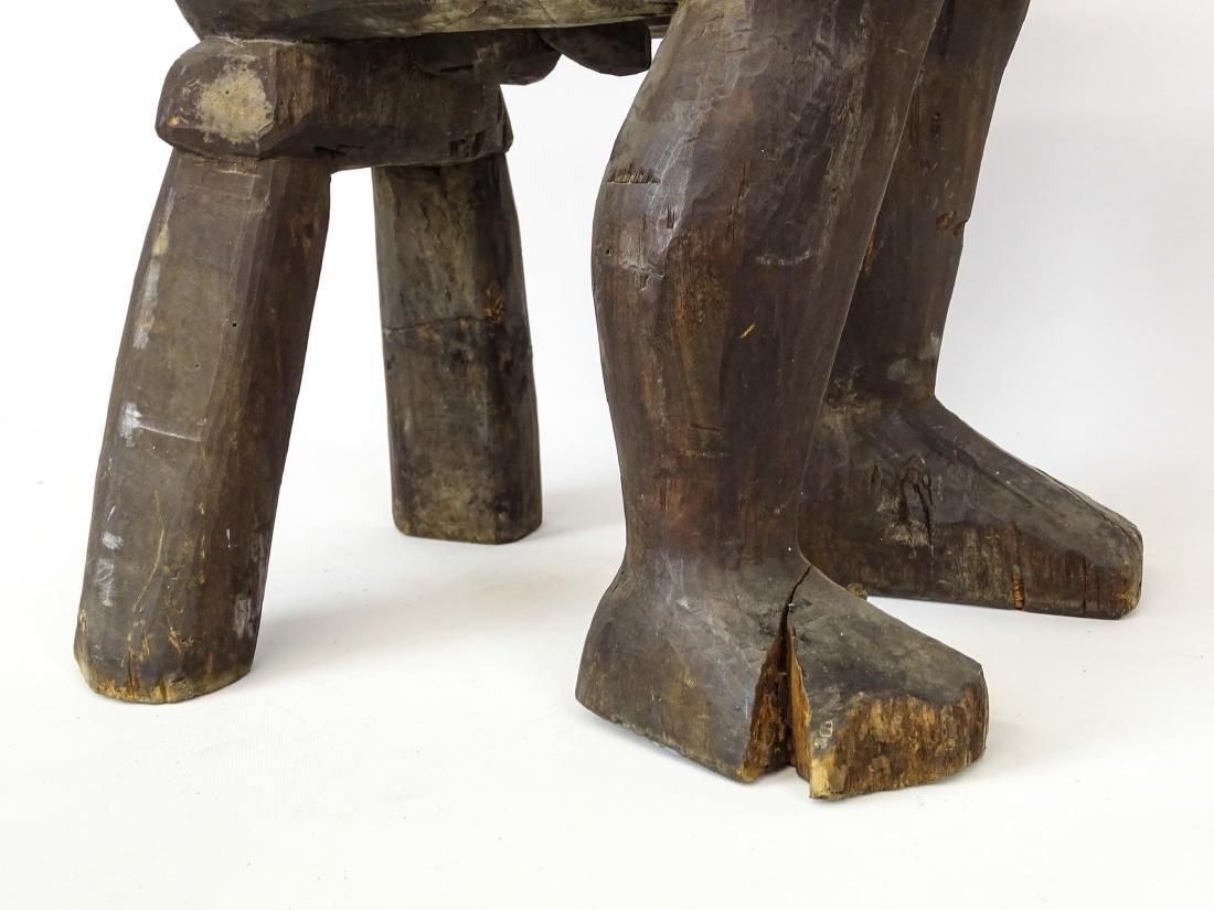 Ethnic Wooden Carved Stool - 6