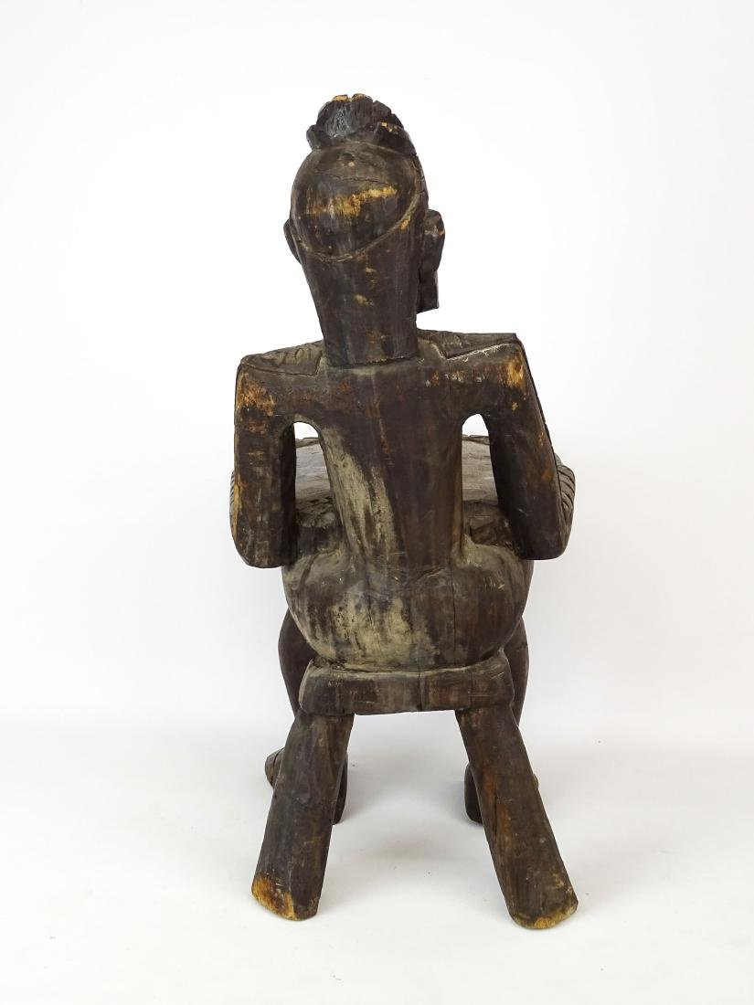 Ethnic Wooden Carved Stool - 8