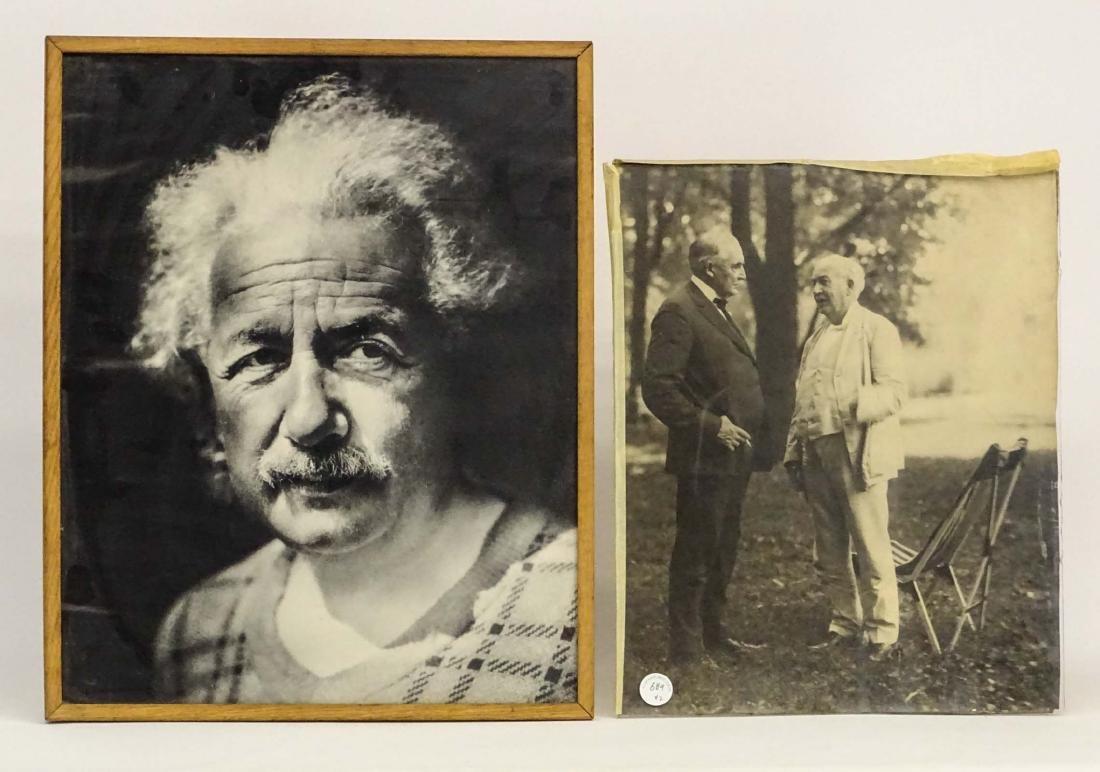 Photograph Lot Of Einstein, Edison & Firestone