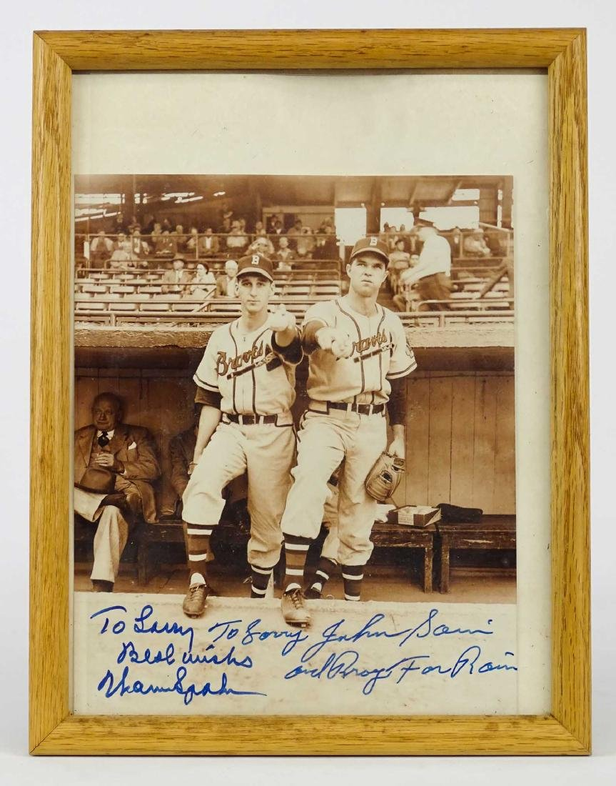 Warren Spahn & Johnnie Sain Autographs