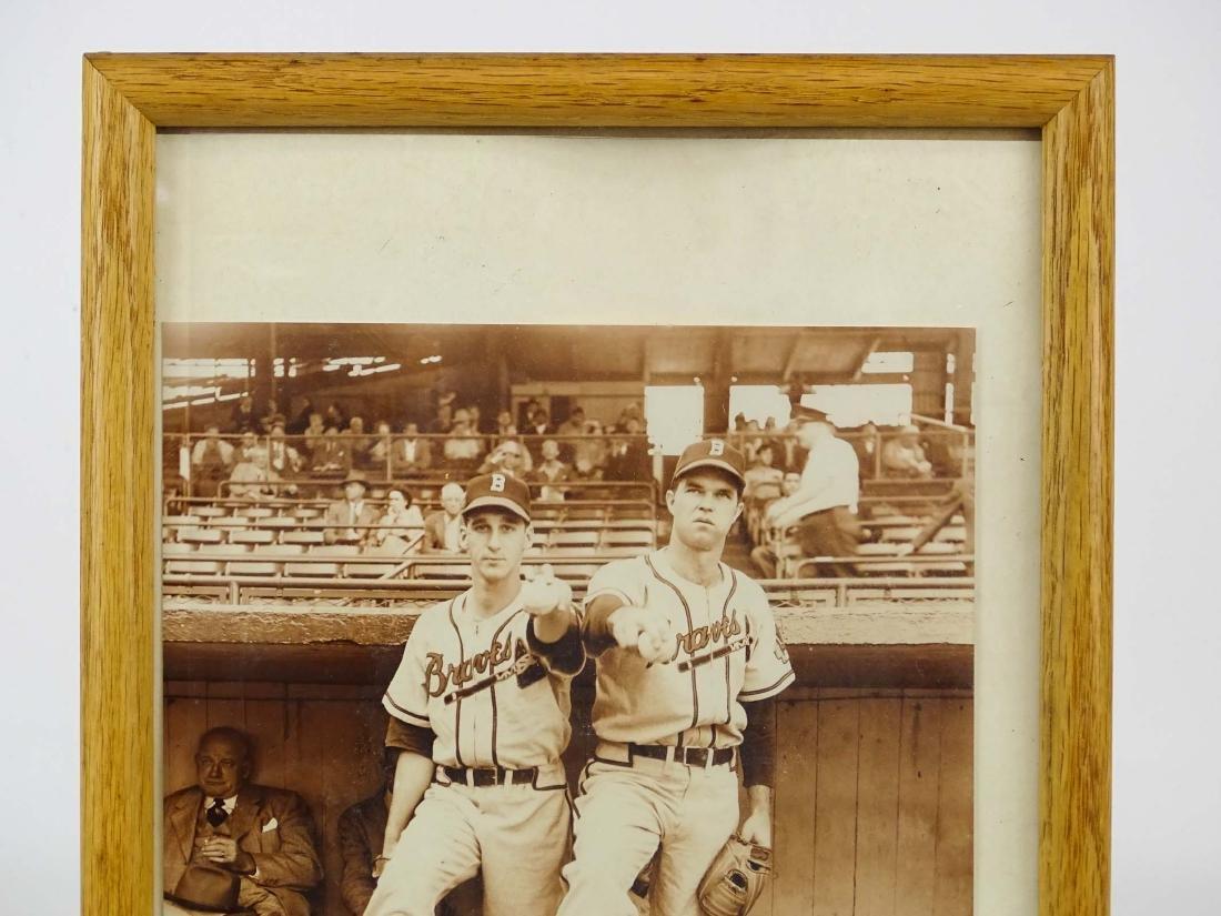 Warren Spahn & Johnnie Sain Autographs - 2