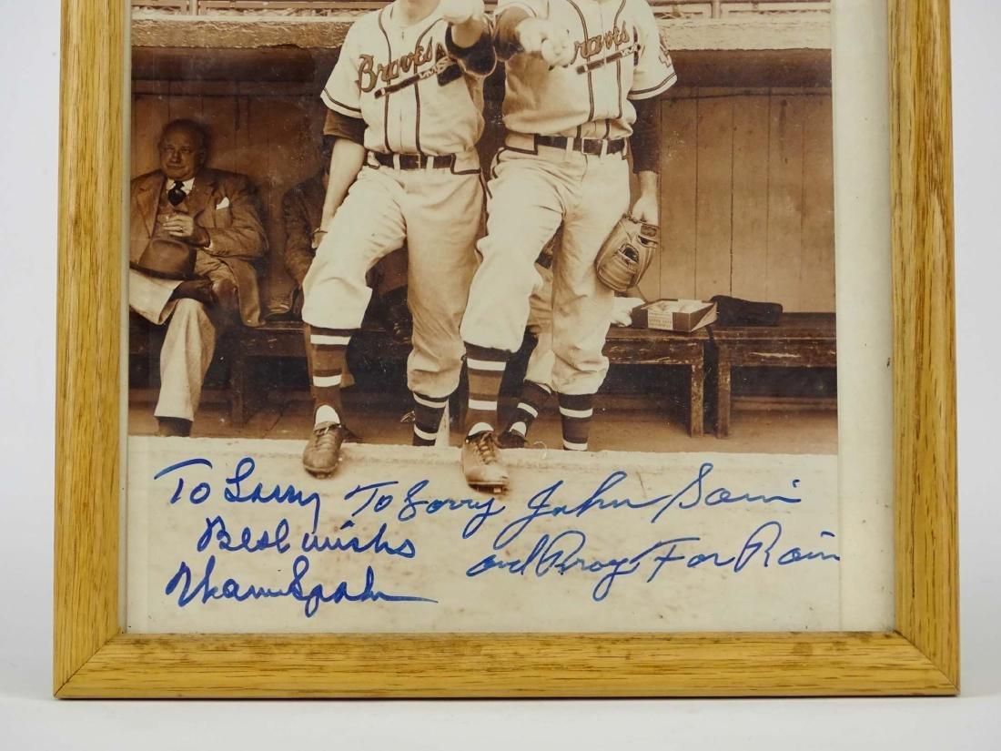 Warren Spahn & Johnnie Sain Autographs - 3