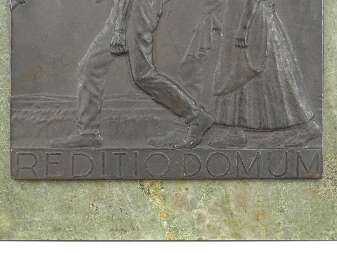"""Early Marble And Bronze Plaque """"REDITIO DOMUM"""" - 2"""