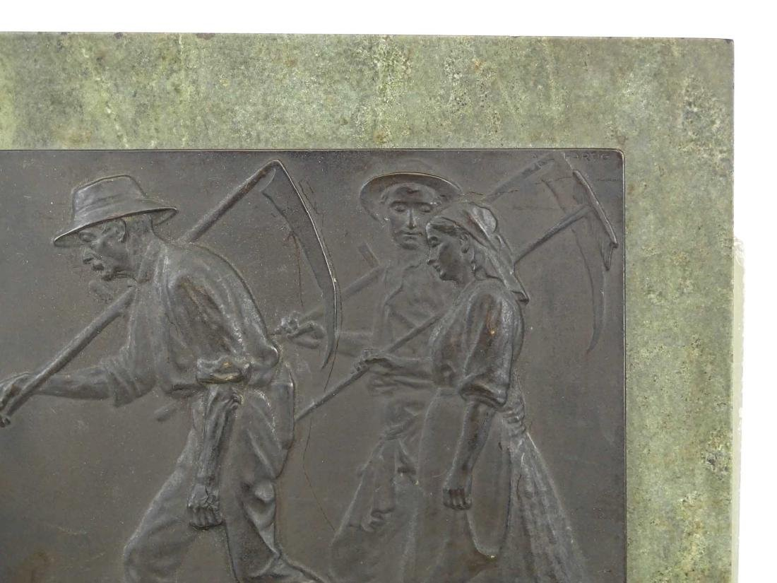 """Early Marble And Bronze Plaque """"REDITIO DOMUM"""" - 3"""
