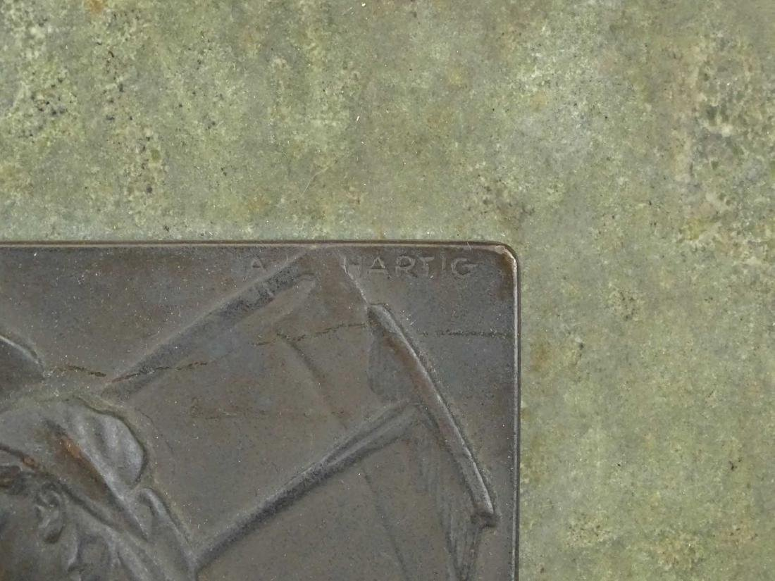 """Early Marble And Bronze Plaque """"REDITIO DOMUM"""" - 4"""