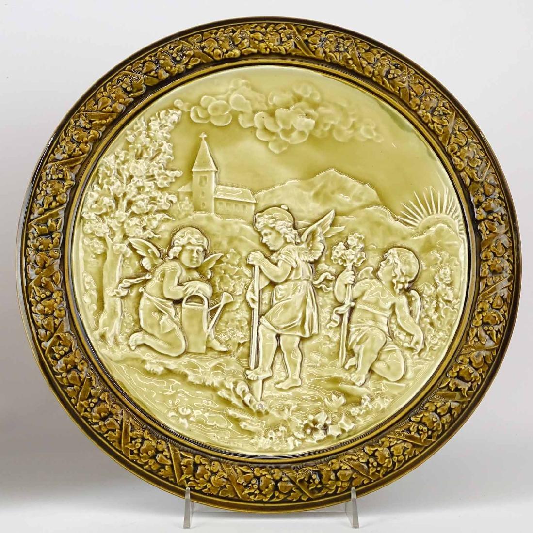 Pair German Porcelain Plaques - 2