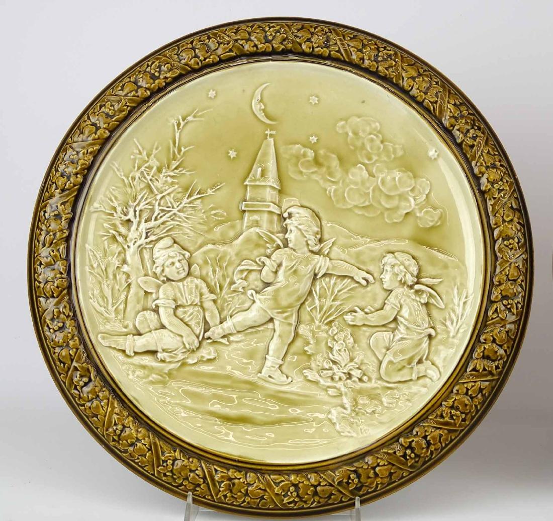Pair German Porcelain Plaques - 3
