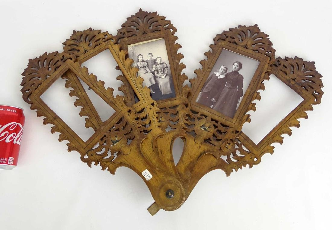 19th c. Photograph Fan Frame