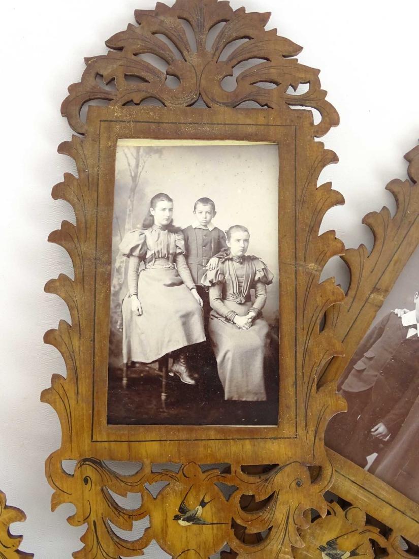 19th c. Photograph Fan Frame - 2