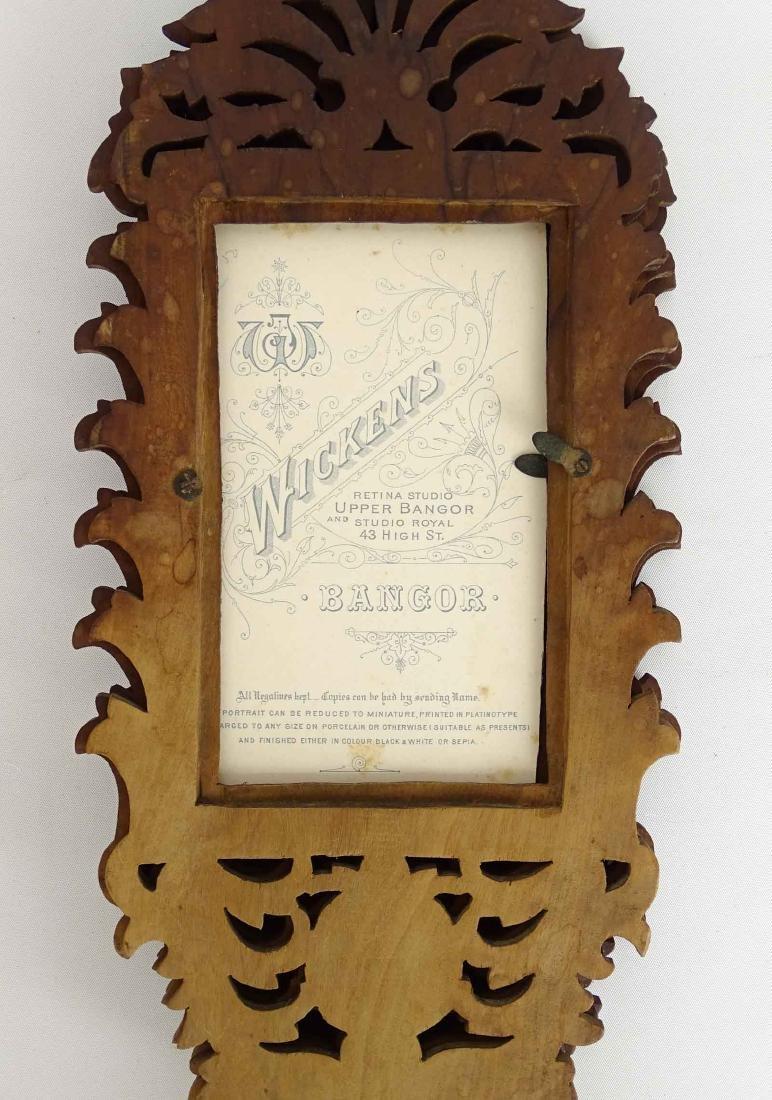 19th c. Photograph Fan Frame - 6