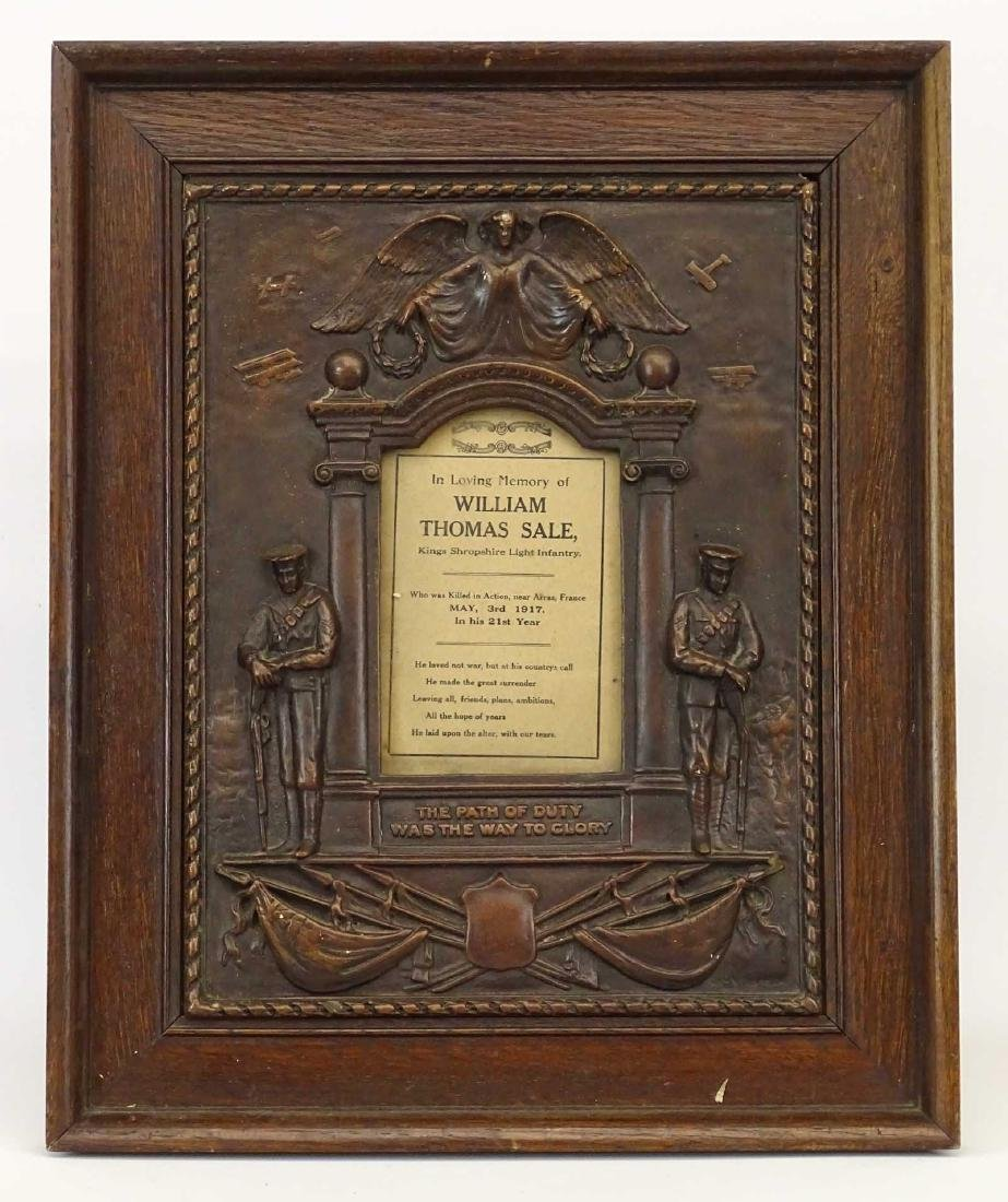 World War I Memorial Frame