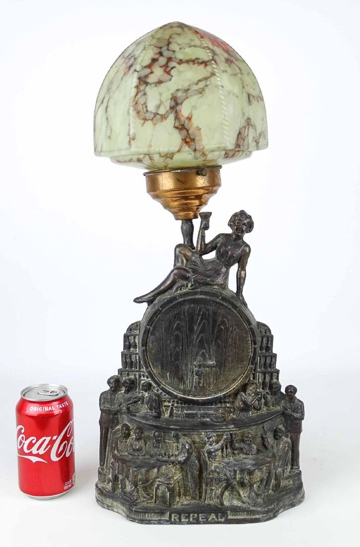 Rare Prohibition Repeal Table Lamp