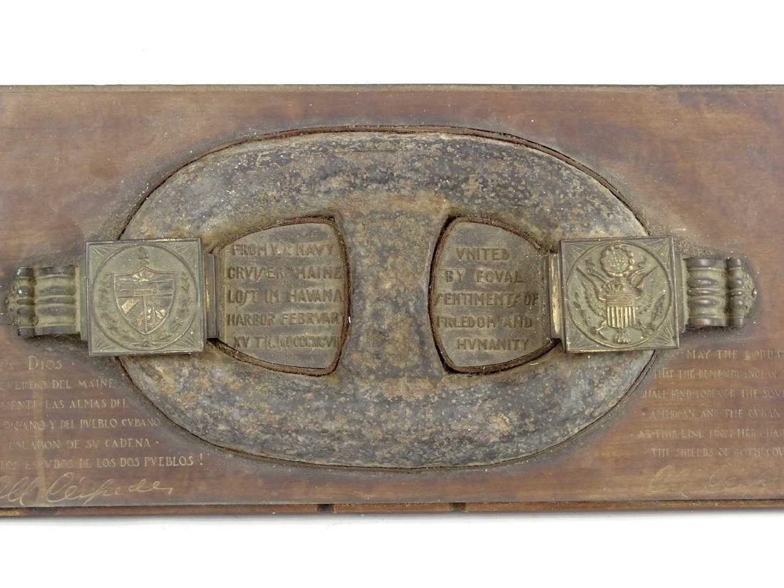 USS Maine Shipwreck Chain Link Artifact - 2