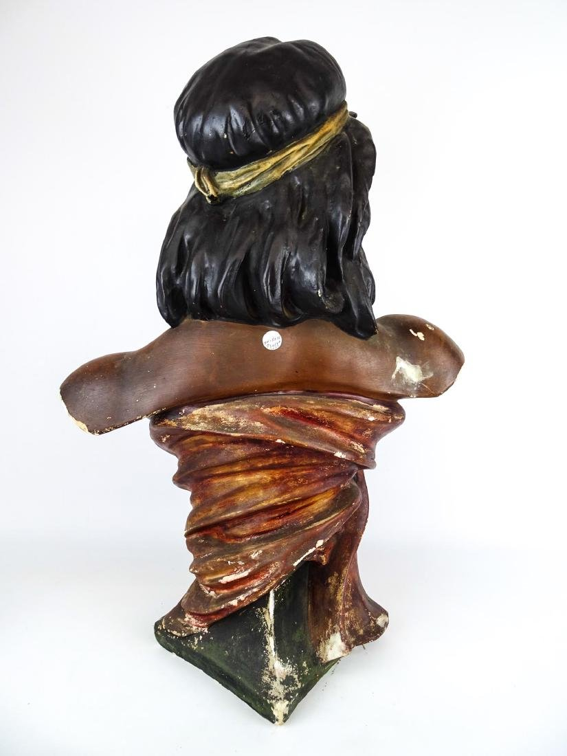 Early Native American Plaster Statue - 10