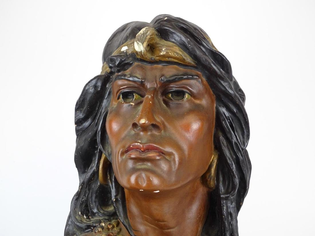 Early Native American Plaster Statue - 2