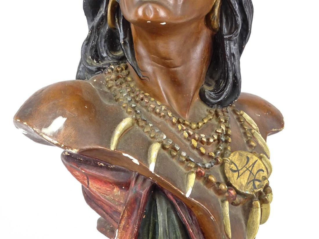 Early Native American Plaster Statue - 3