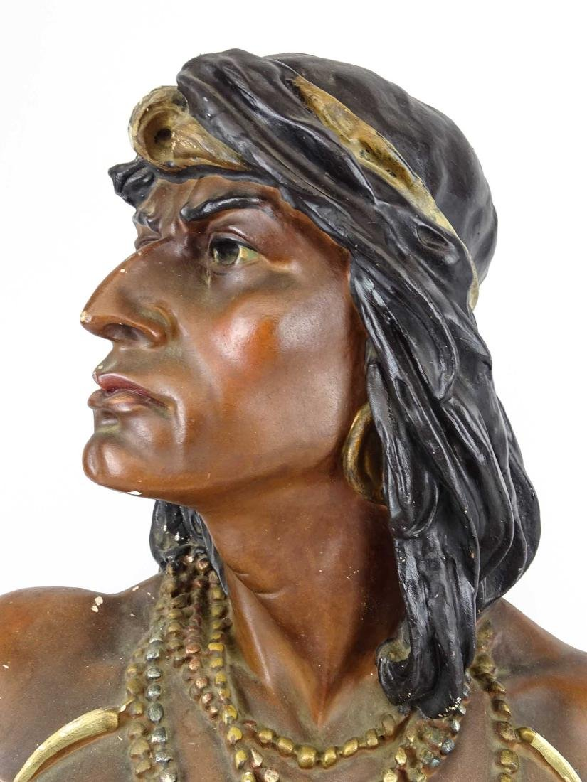 Early Native American Plaster Statue - 8
