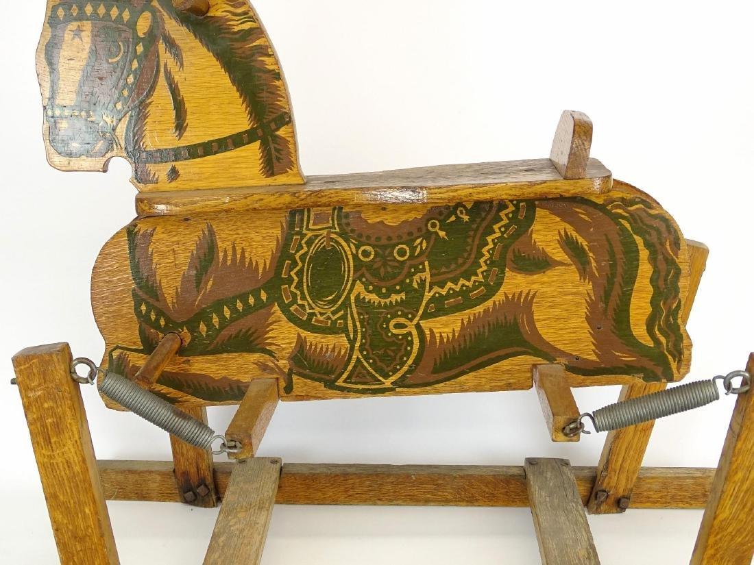 Vintage Child's Riding Horse - 3
