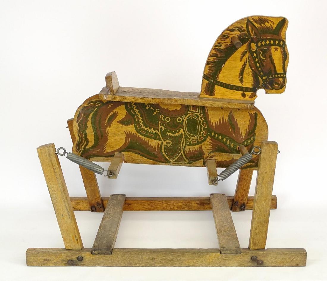 Vintage Child's Riding Horse - 7