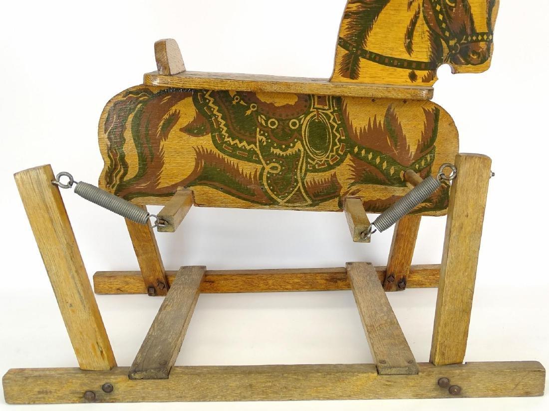 Vintage Child's Riding Horse - 9