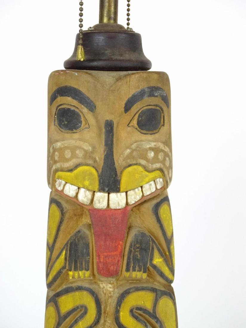 Northwest Coast Carved Lamp - 2