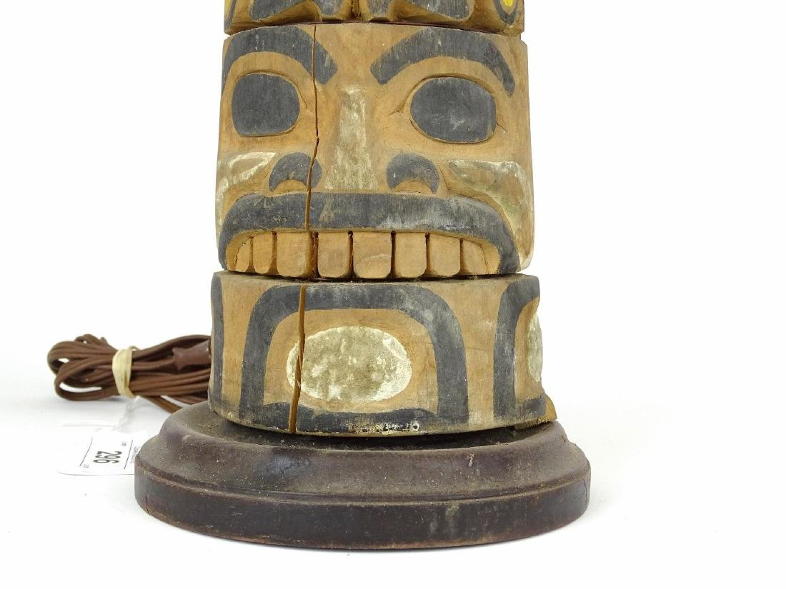 Northwest Coast Carved Lamp - 3
