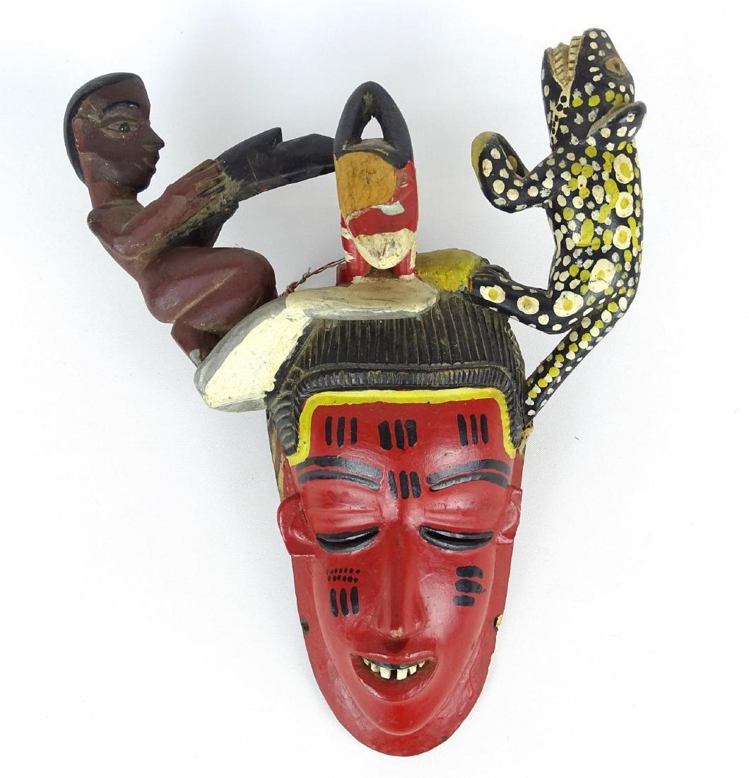 Ethnic Carved Mask - 2