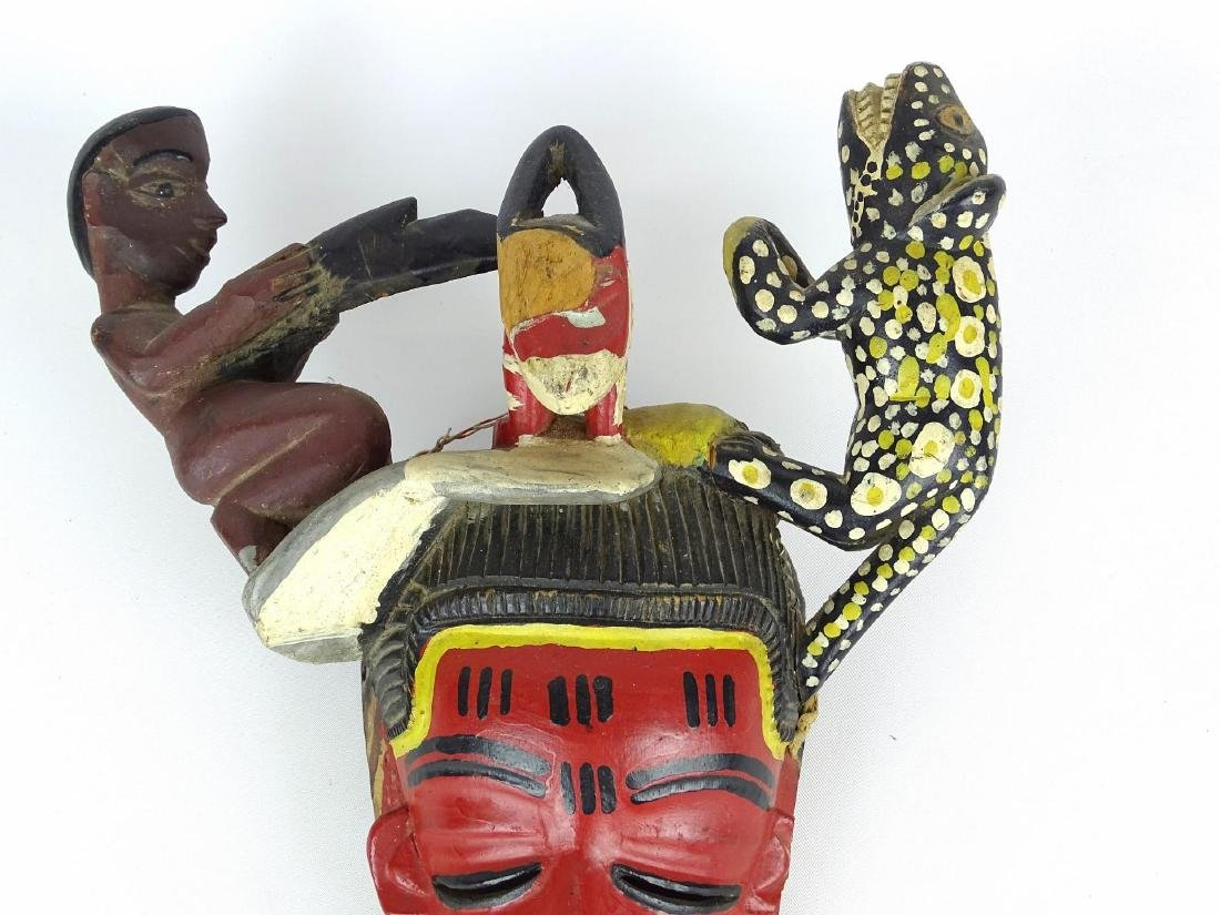 Ethnic Carved Mask - 3