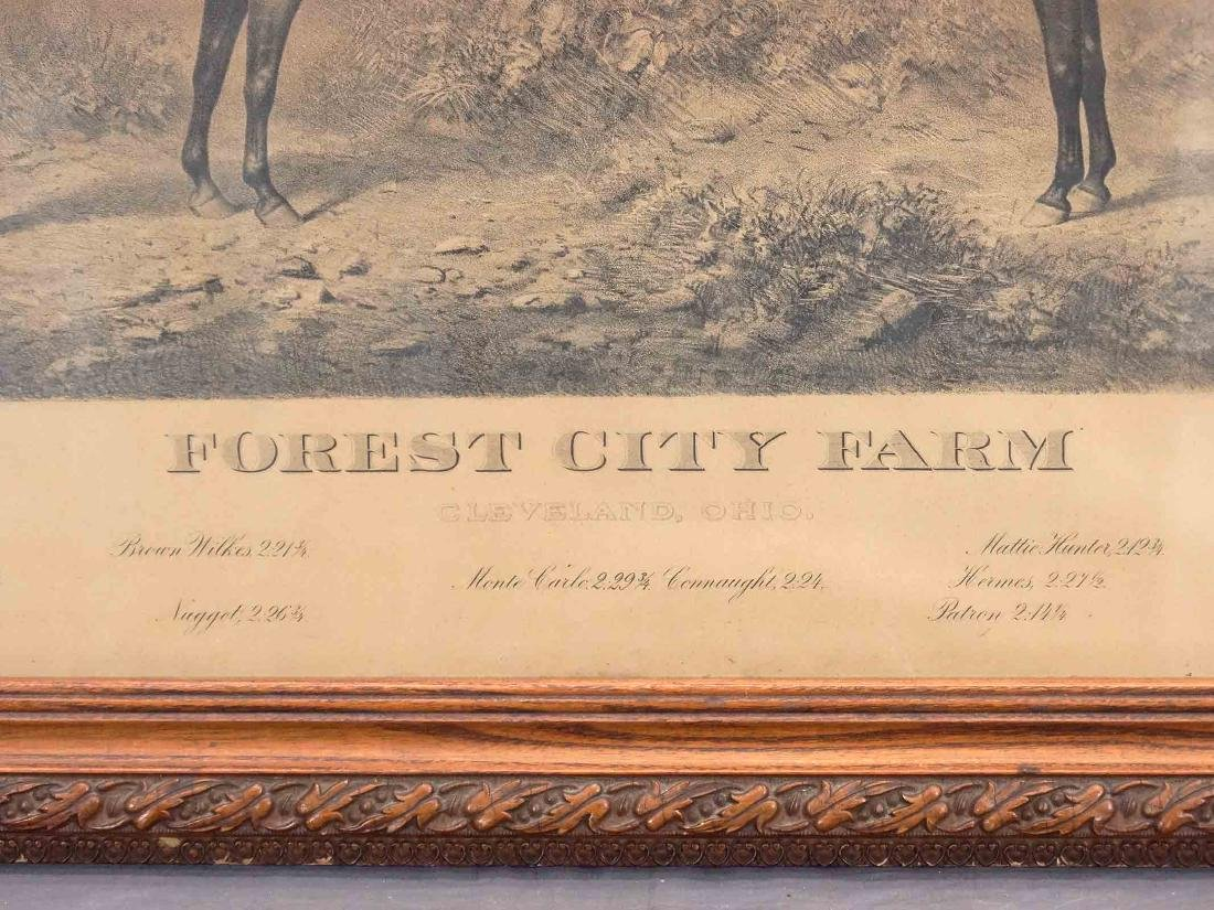 C. 1900 Horse Racing Farm Lithograph - 2