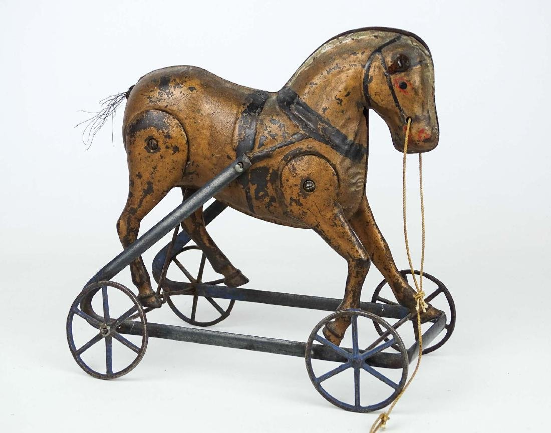 C. 1890's Horse Pull Toy - 2