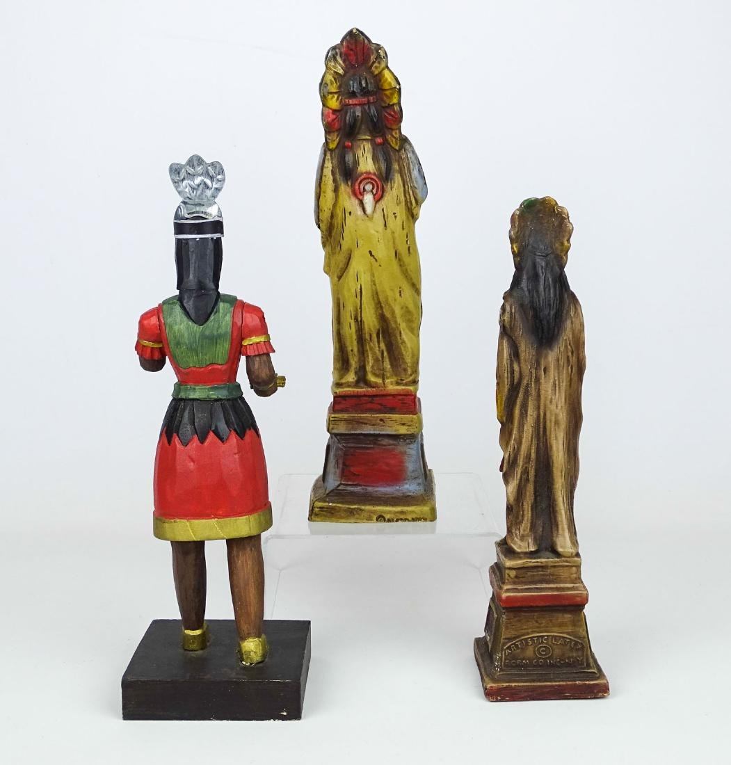 Miniature American Indian Cigar Figures - 3