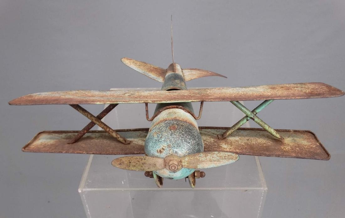 Biplane Weathervane - 3