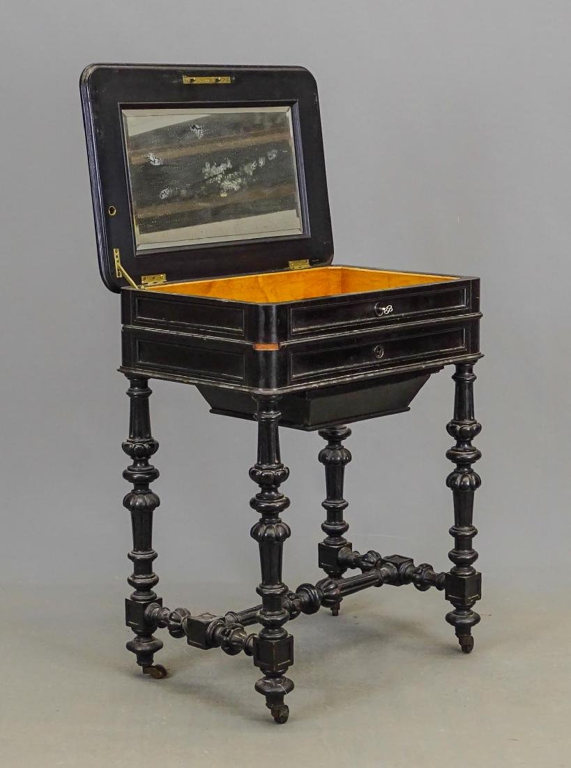 19th c. Victorian Sewing Table - 3