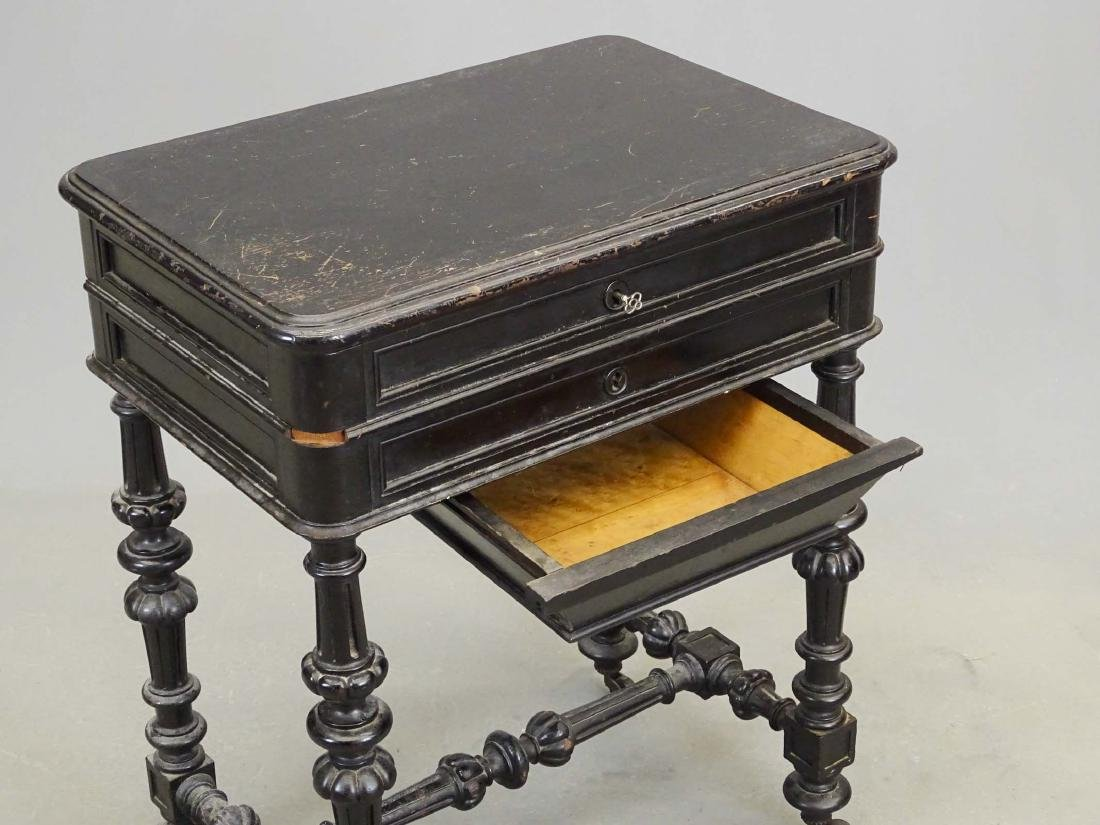 19th c. Victorian Sewing Table - 8