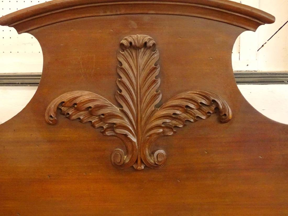 19th c. Carved Bed - 3
