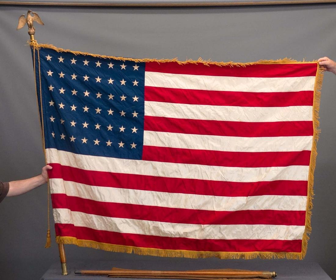 48 Star American Flag With Pole