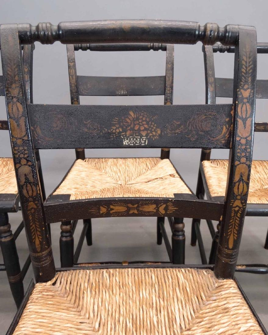 Set Of (4) 19th c. Hitchcock Style Chairs - 4