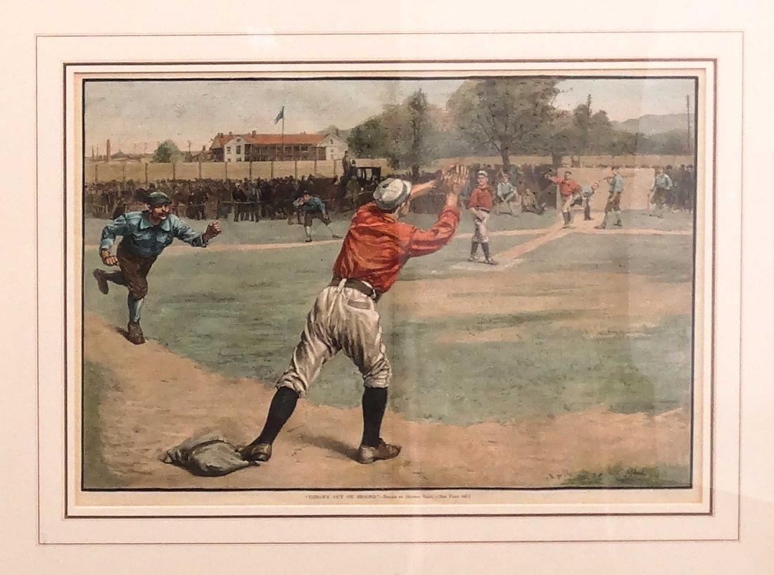 Harpers Weekly Baseball Prints - 3