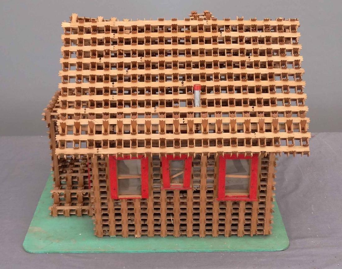 Crown Of Thorns Tramp Art House Model - 3