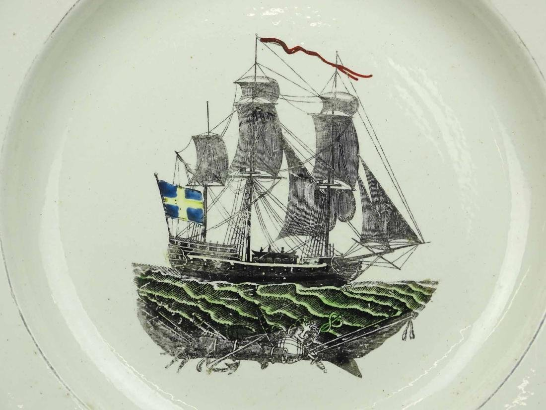 Early Cream Ware Plate - 2