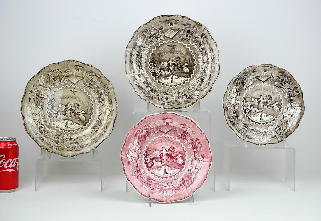 19th c. Staffordshire Plates