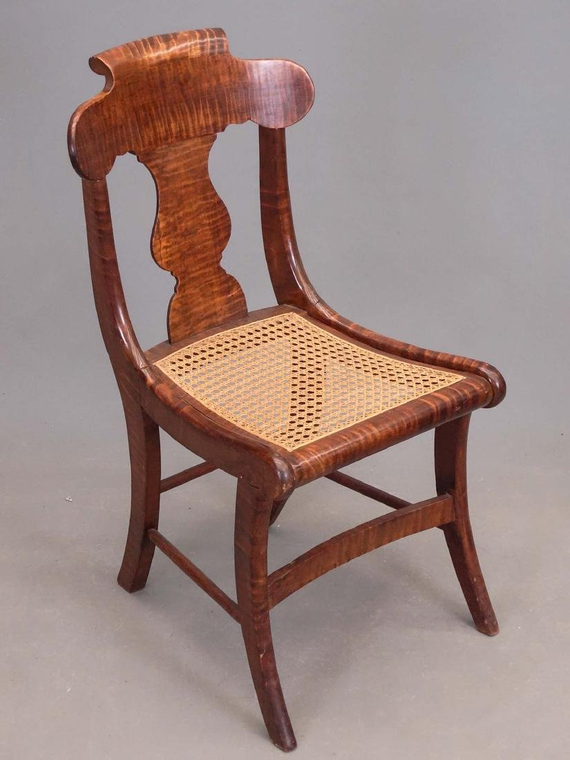 Set Of (8) 19th c. Tiger Maple Chairs - 2