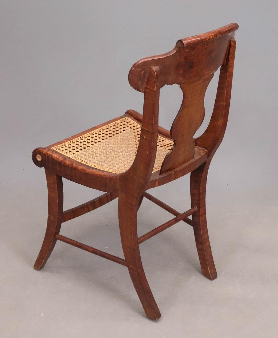 Set Of (8) 19th c. Tiger Maple Chairs - 3