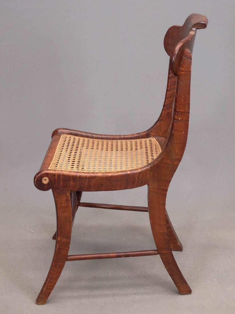 Set Of (8) 19th c. Tiger Maple Chairs - 4