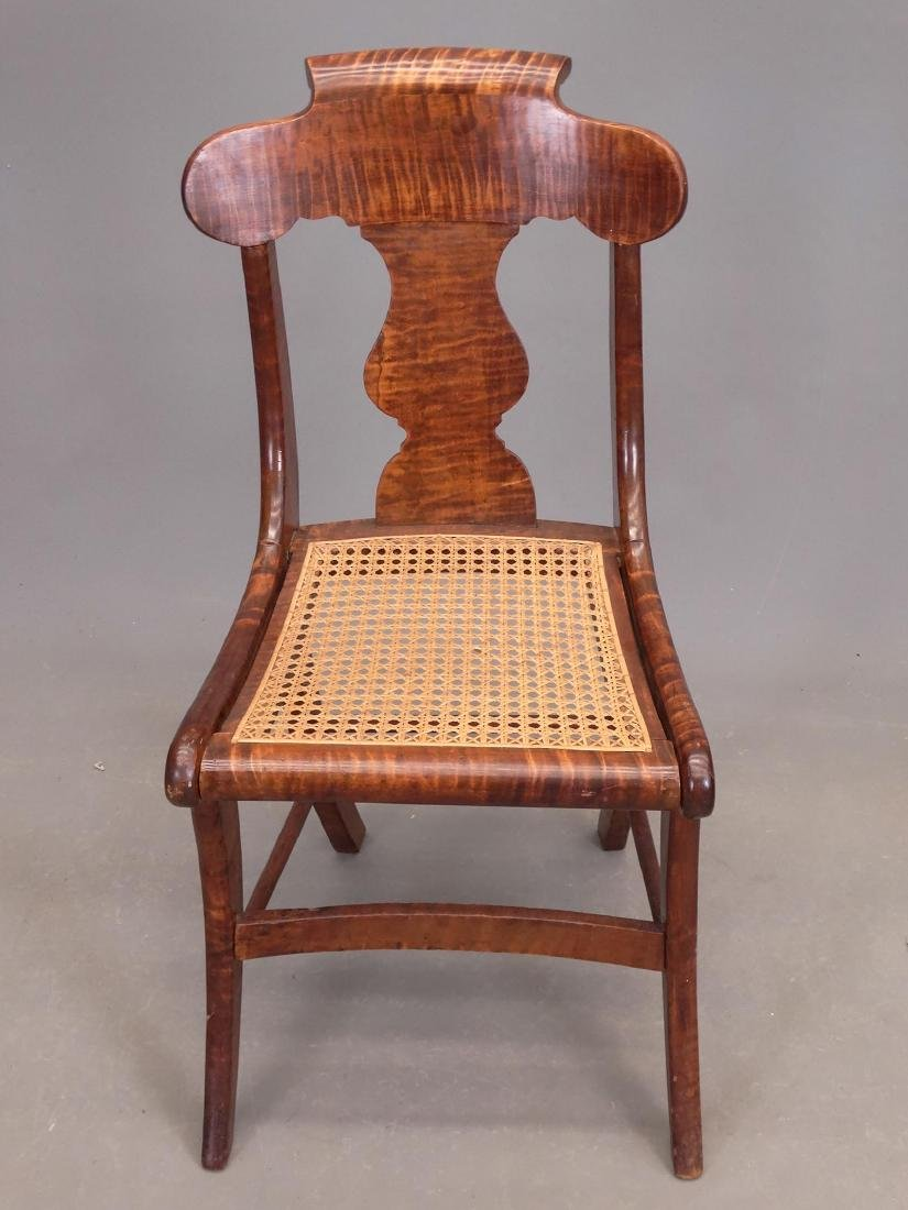 Set Of (8) 19th c. Tiger Maple Chairs - 5