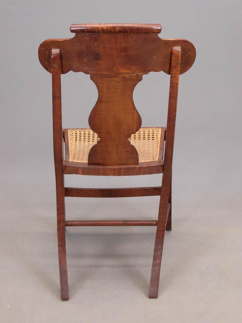Set Of (8) 19th c. Tiger Maple Chairs - 6