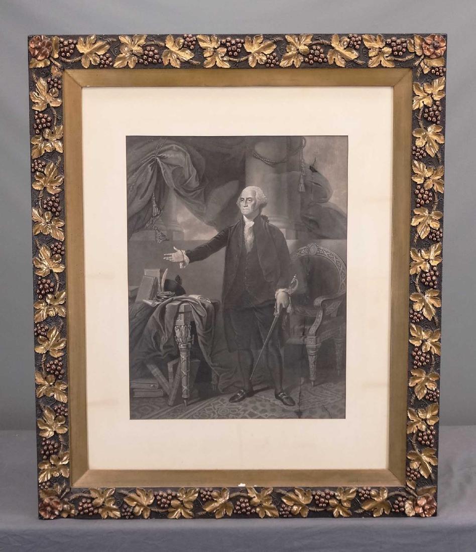 19th c. Print Of George Washington