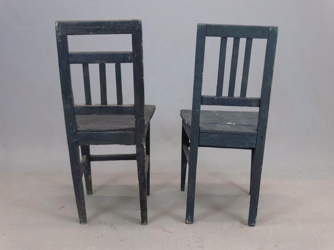 Pair Folk Art Painted Chairs - 4
