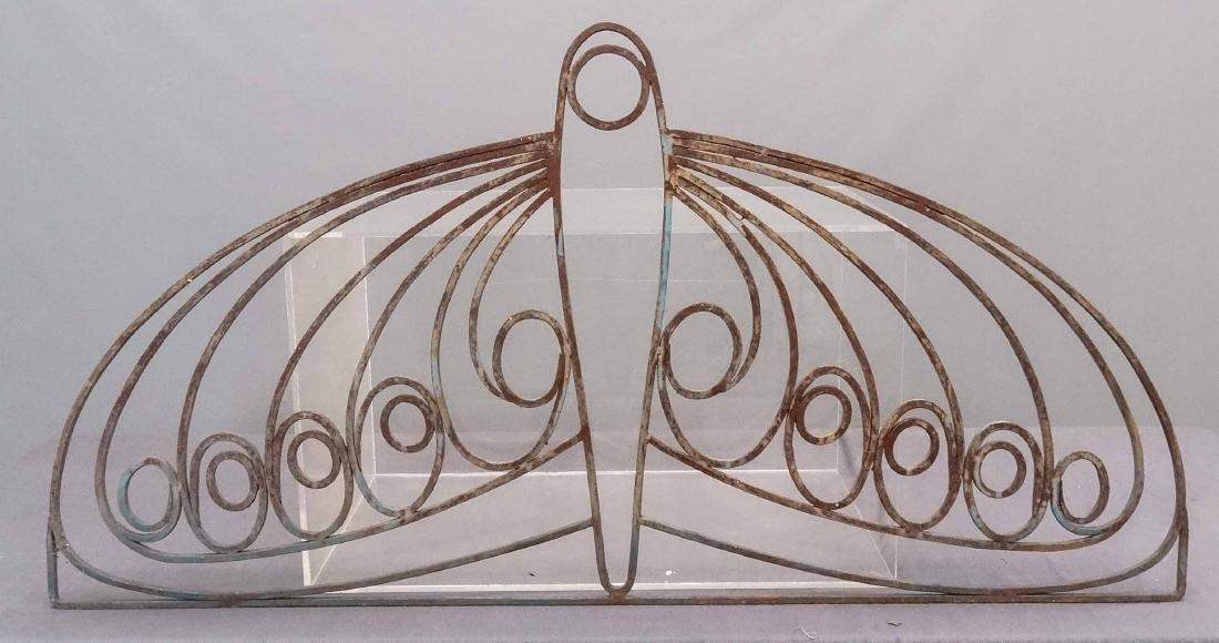 Art Deco Wrought Iron Window Grate - 3