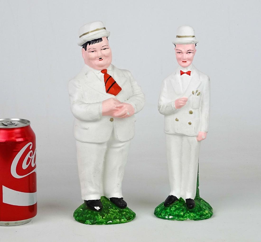 Laurel & Hardy Chalkware Statues